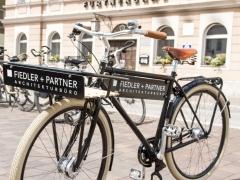 Werbefahrrad Monsieur Fiedler+Partner Freising